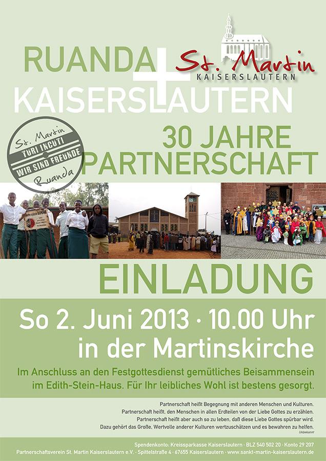 Plakat Partnerschaftsjubilaeum 2013