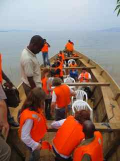 Bootsfahrt auf dem Kivusee