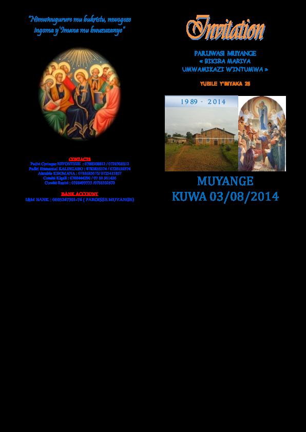 Jubiläumsfeier Muyange